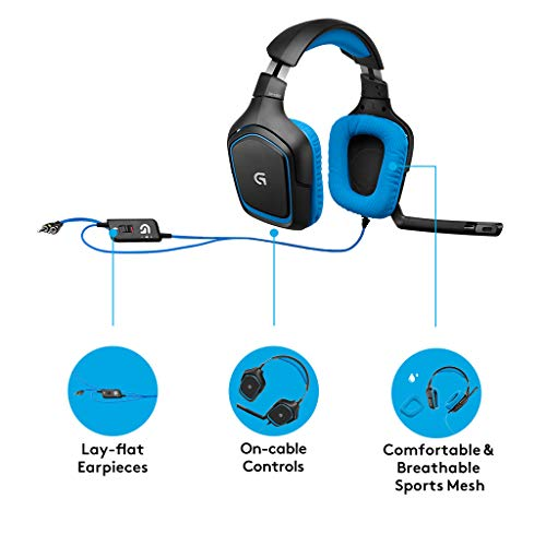 logitech g430 7.1 surround gaming headset